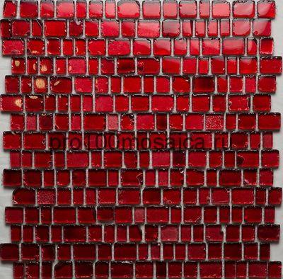Efes Red. Мозаика серия GLASS, размер, мм: 309*309 (ORRO Mosaic)