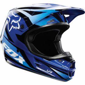 Мотошлем Fox Racing V1 Race Helmet ECE blue
