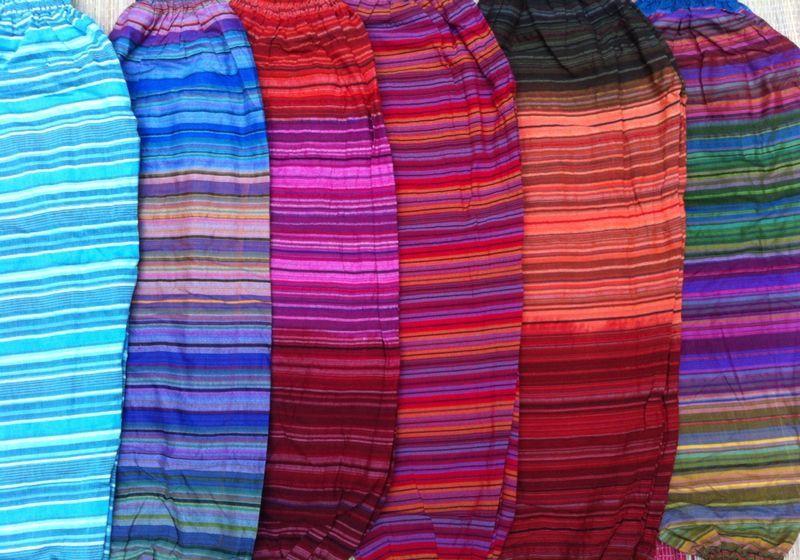 Полосатые шаровары (отправка из Индии)