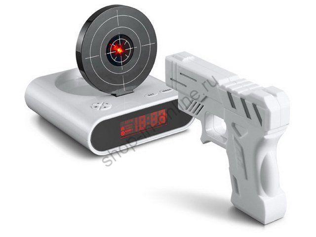 Будильник-Мишень с пистолетом