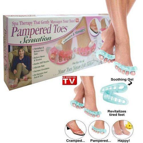 Массажер для пальцев ног с вибрацией Pampered Toes Sansation (6 штук)