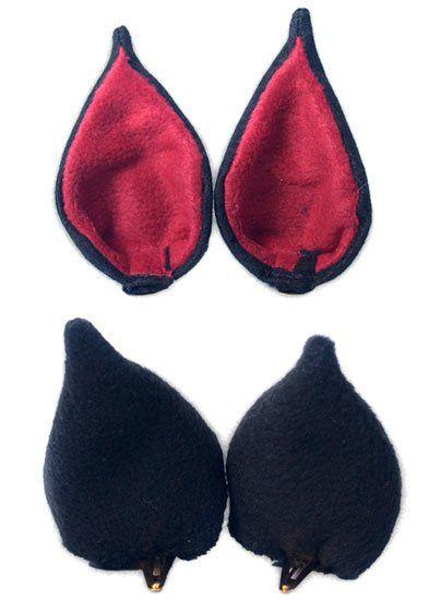 Ушки Sweet Kawaii Clip on Cat Ears - Devil Kitty (Black/Red)