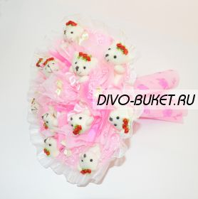 "Букет из игрушек №121-11 ""Фламинго"""