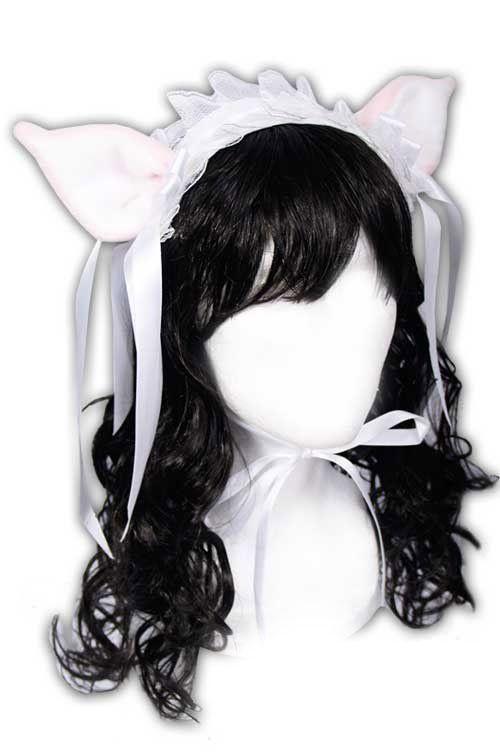 Ушки Hime Sweet Kitty Lolita Headpiece (pink/white)