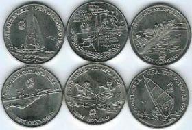 Олимпиада в Атланте Набор монет Румыния 1996 год