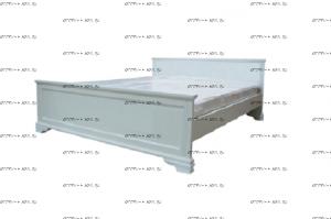 Кровать Классика без рисунка, белая эмаль