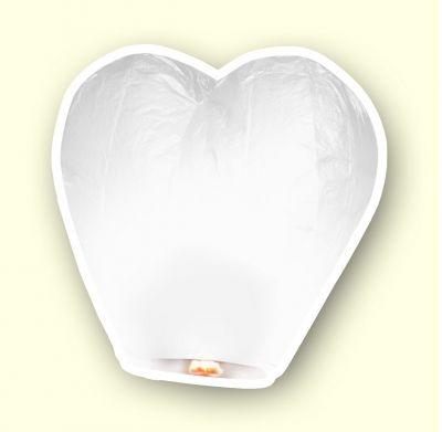 """Небесный фонарик """"Сердце"""" цвет белый"""