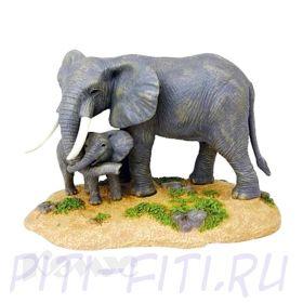 GULLIVER. 4D пазлы. Слон и его потомство