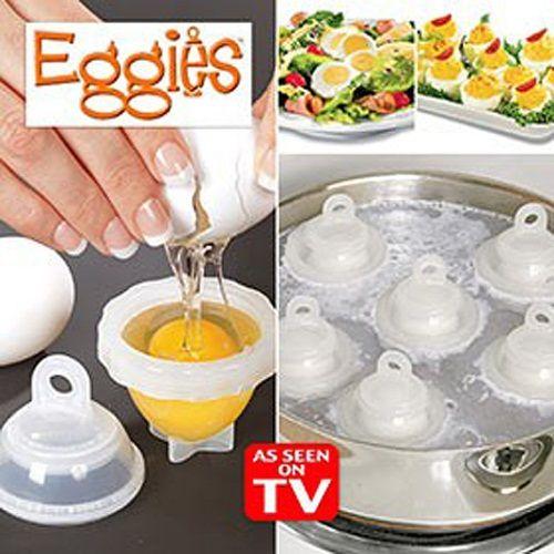 Формы для варки яиц без скорлупы Eggies (Эггиз) 6шт.