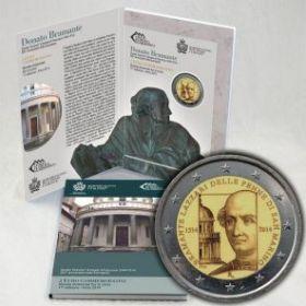 500 лет смерти итальянского художника-архитектора Донато Браманте 2 Евро Сан-Марино 2014 на заказ