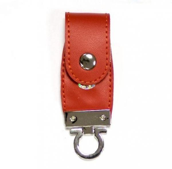 4GB USB-флэш накопитель Apexto U503C гладкая красная кожа OEM
