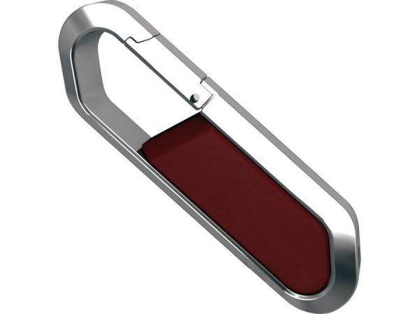 64GB USB-флэш накопитель Apexto S805 металлический карабин, красный