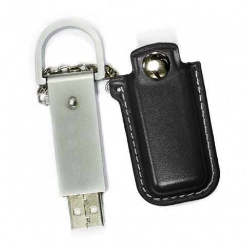 8GB USB-флэш накопитель Apexto U503E гладкая черная кожа OEM
