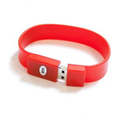 8GB USB-флэш накопитель Apexto U601A браслет красный