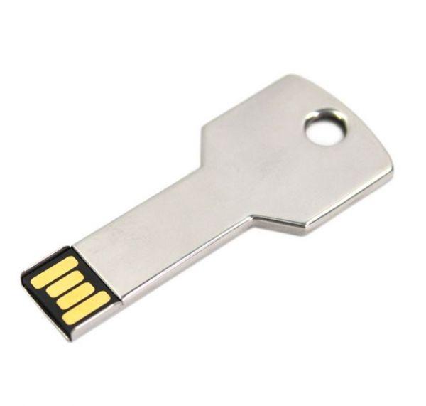 4GB USB-флэш накопитель Apexto UK-001 металлический ключ, серебряный