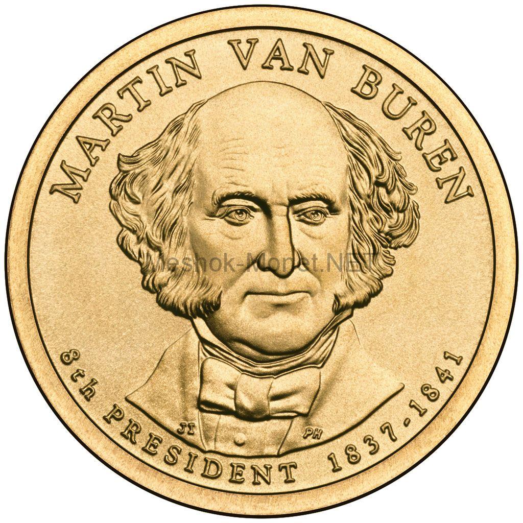 1 доллар США 2008 год Серия Президентские доллары Мартин Ван Бюрен