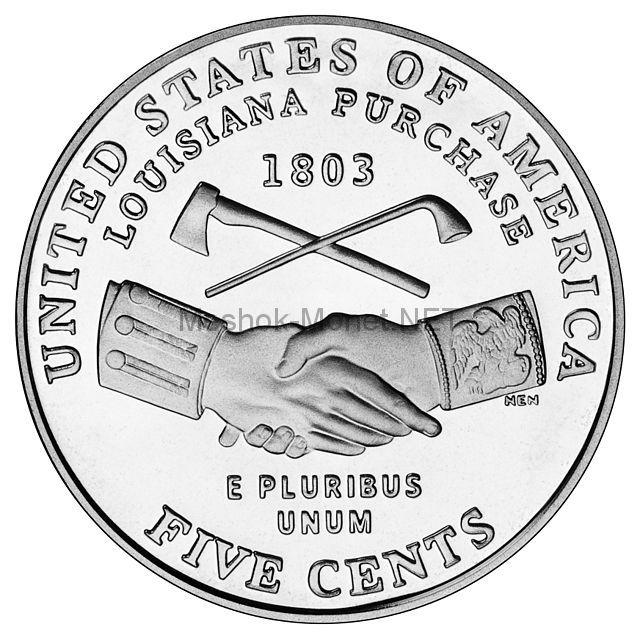 5 центов США Приобретение Луизианы