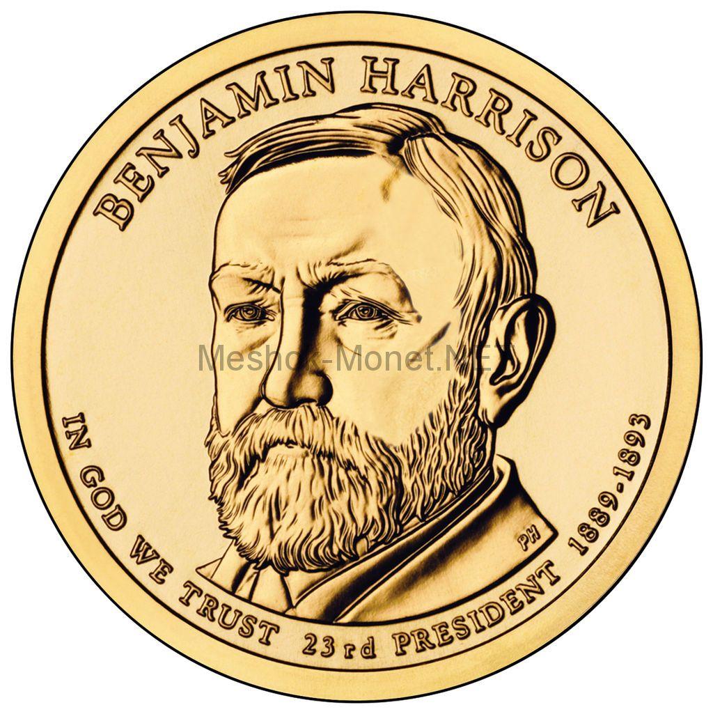 1 доллар США 2012 год Серия Президентские доллары Бенджамин Гаррисон