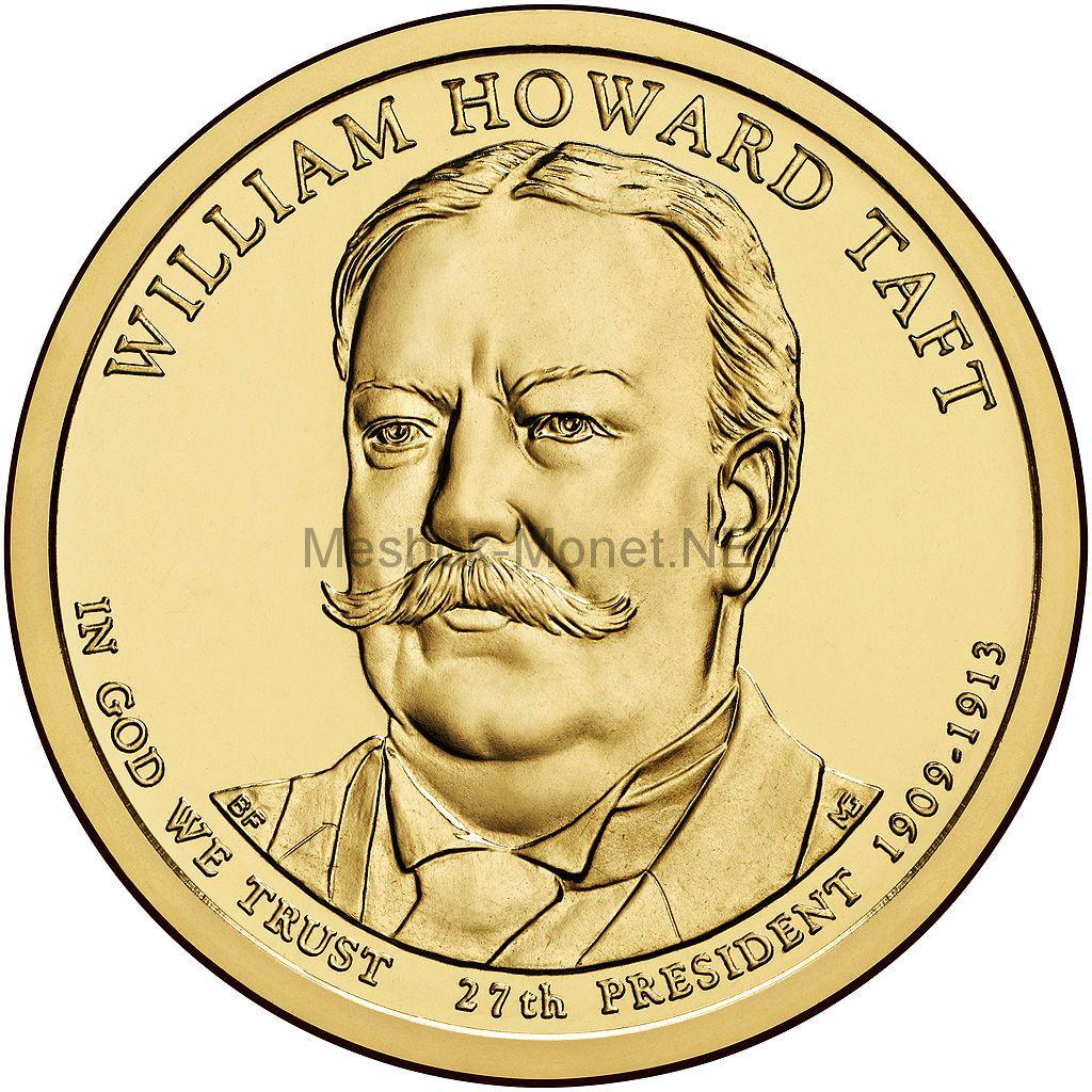 1 доллар США 2013 год Серия Президентские доллары Уильям Тафт