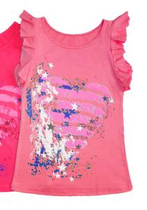 Майка для девочки розового цвета