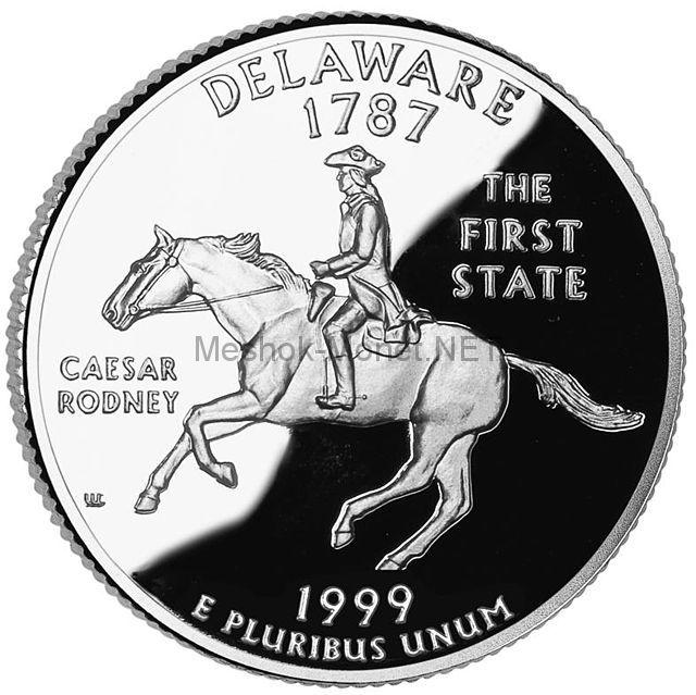 25 центов США 1999 штат Делавэр