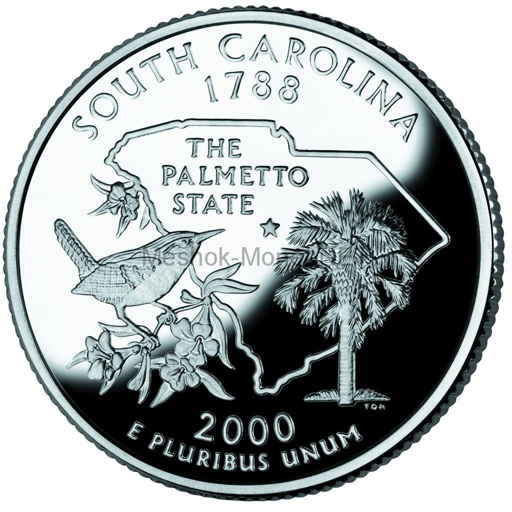 25 центов США 2000 штат Южная Каролина
