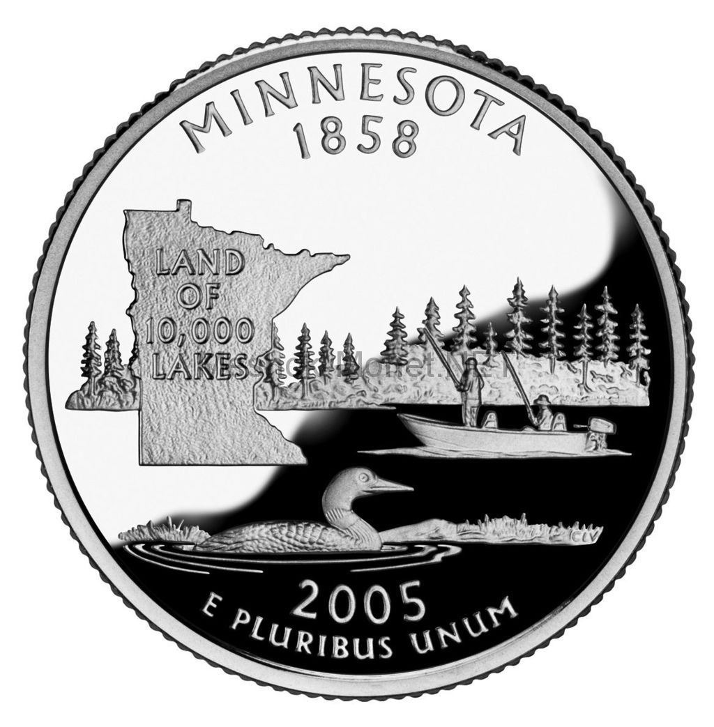 25 центов США 2005 штат Миннесота