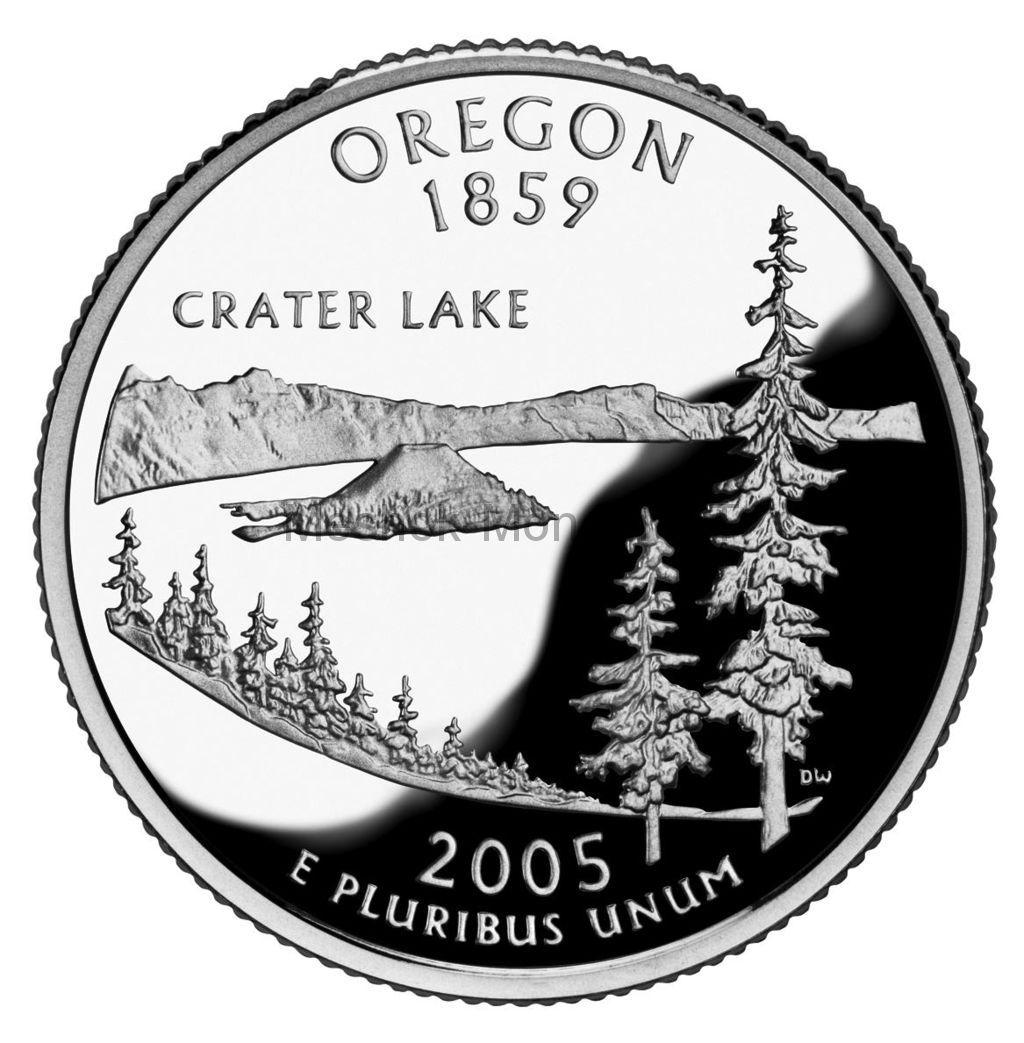 25 центов США 2005 штат Орегон