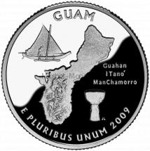 25 центов США 2009 Гуам