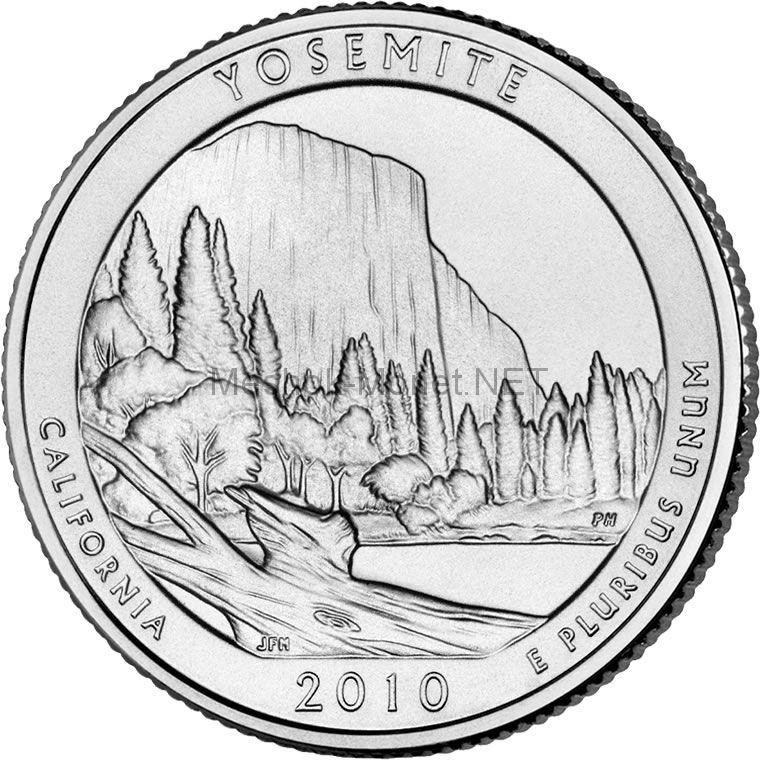 25 центов США 2010 Йосемитский национальный парк