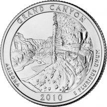 25 центов США 2010 Национальный парк Гранд-Каньон