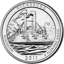 25 центов США 2011 Национальный парк Виксбург
