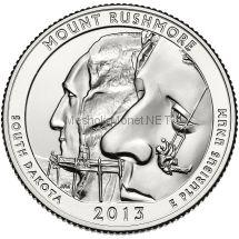 25 центов США 2013 Национальный мемориал Маунт-Рашмор