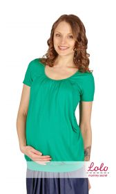 Блуза для беременных и кормящих мам ЗЕЛЕНАЯ