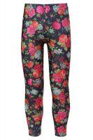 Леггинсы лосины для девочки джинсовые с цветами Турция