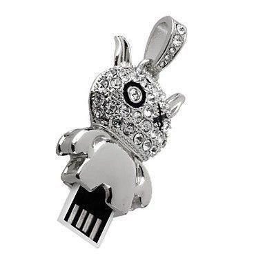 8GB USB-флэш накопитель Apexto UJ041 Чертик в стразах, серебряный