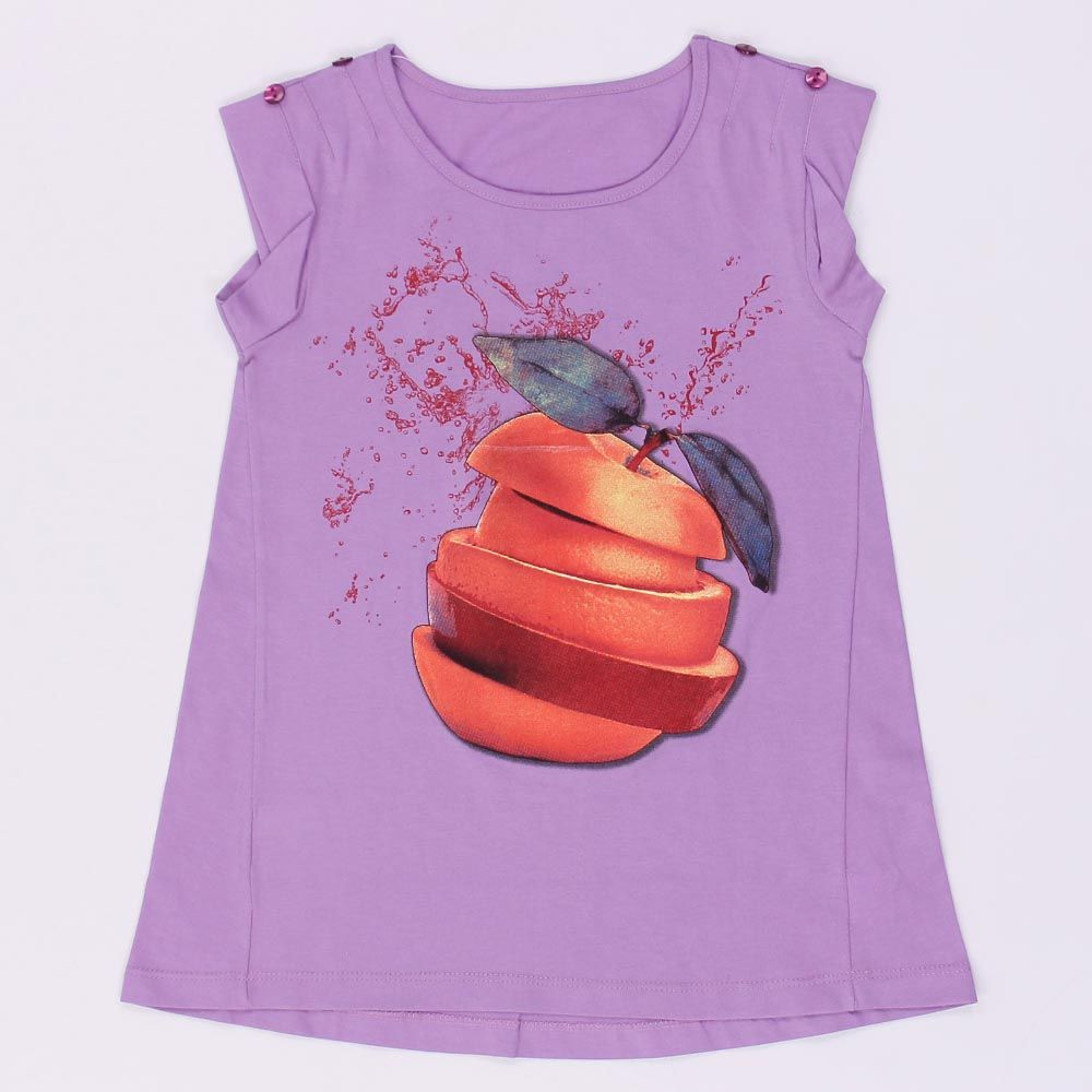 Блуза для девочки сиреневая