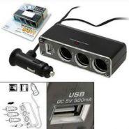 Новинка!  Тройник в прикуриватель 12 V+USB 5V (Зарядка телефона)