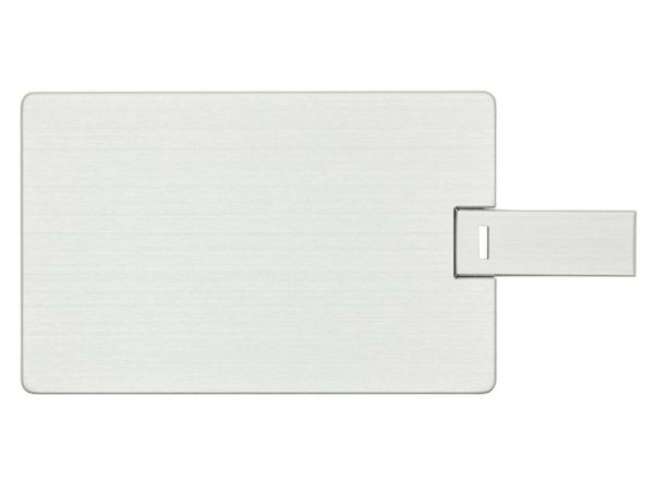 64GB USB-флэш накопитель Apexto U504EM алюминиевая кредитная карта, серебряная