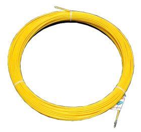 Протяжка кабельная (мини УЗК в бухте), 5м, стеклопруток, d=3мм, латунный наконечник, заглушка.