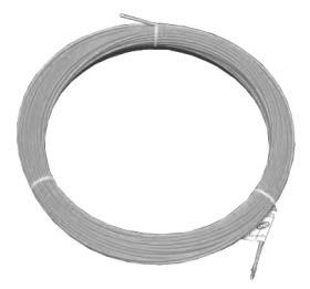 Протяжка кабельная (мини УЗК в бухте), 30м, нейлон, d=3мм, латунный наконечник, заглушка.