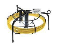Протяжка кабельная (мини УЗК в металлической касете), 10м, стеклопруток, d=3мм, латунный наконечник, заглушка.