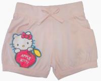 Детские шорты нежно-розового цвета с принтом Хелло Китти
