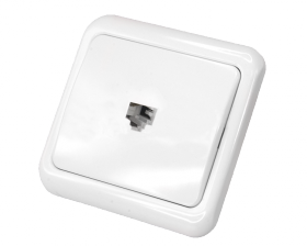 Телефонная розетка внутренняя - 1 6P-4C (1 порт) REXANT