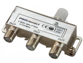 ДЕЛИТЕЛЬ ТВ х 3 под F разъём 5-1000 МГц PROCONNECT