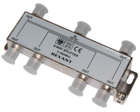 ДЕЛИТЕЛЬ ТВ х 6 под F разъём 5-1000 МГц REXANT