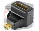 ПЕРЕХОДНИК гн.HDMI - шт.Micro HDMI угловой GOLD REXANT
