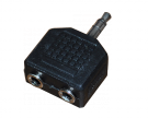 ПЕРЕХОДНИК штекер 3.5мм стерео - 2гнезда 3.5мм стерео REXANT