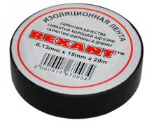 Изолента 15мм х 20м черная REXANT