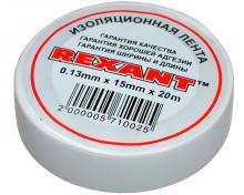 Изолента 15мм х 20м белая REXANT